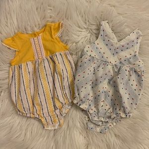 Baby Girls Cat&Jack Romper Bundle 2 diff sizes!!!!